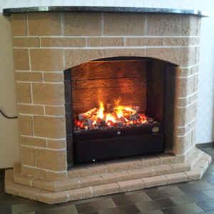 Dieser Elektrokamin bringt Urlaubsfeeling pur ins Haus, mit seiner mediterranen Fassade und dem natürlichen Feuereffekt!