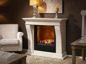 Der klassisch-schlichte Elektrokamin mit creme-weiß-marmorierter Fassade bereichert Ihr Wohngefühl. Eine Schönheit aus Fossilsteinmarmor in eleganter Ausführung.