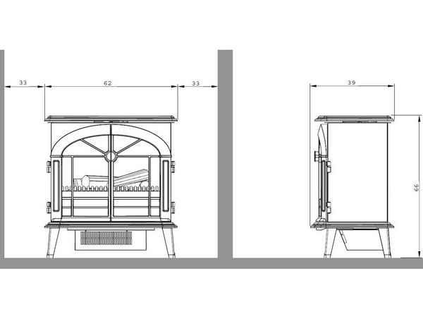 elektrokamin st 129 mh l stockbridge garvens. Black Bedroom Furniture Sets. Home Design Ideas