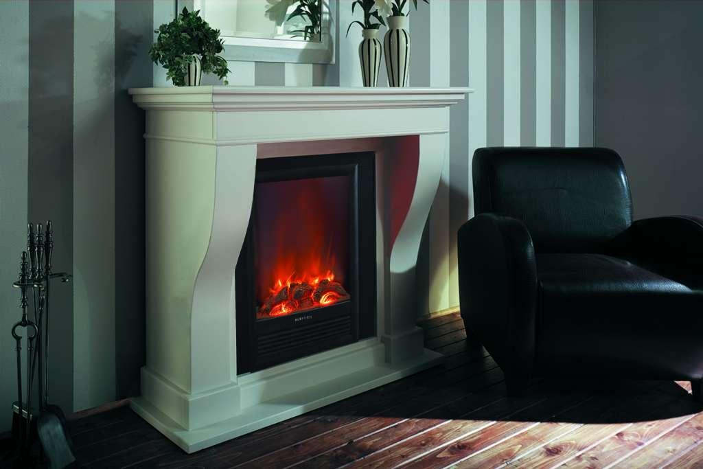elektrokamin kreta creme wei lackiert garvens elektrokamine und ethanol kamine. Black Bedroom Furniture Sets. Home Design Ideas