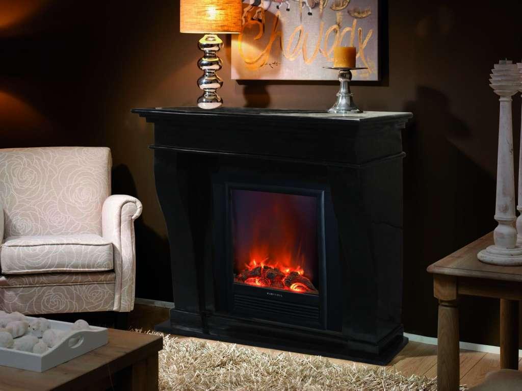 elektrokamin kreta fossilsteinmarmor schwarz garvens elektrokamine und ethanol kamine. Black Bedroom Furniture Sets. Home Design Ideas