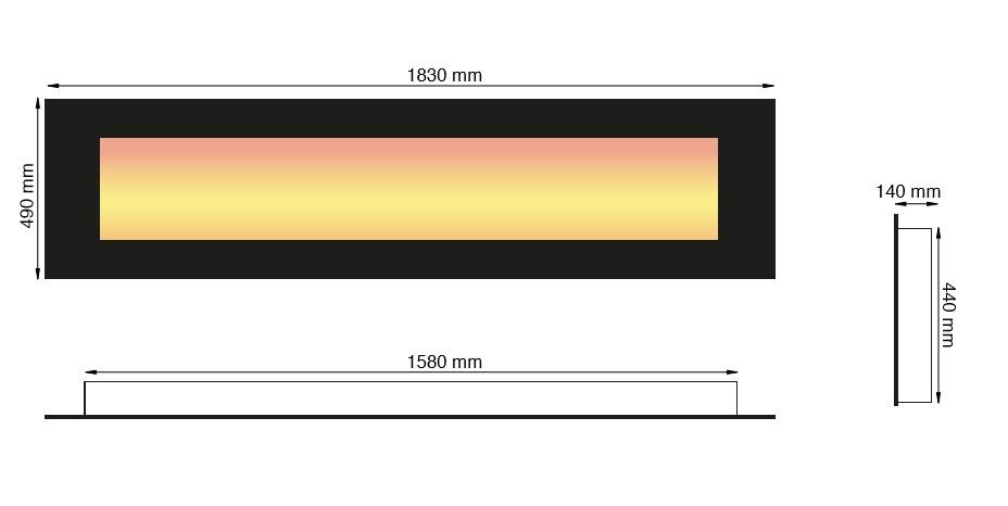 elektrokamin trivero 180 sehr breiter design h ngekamin garvens elektrokamine und ethanol. Black Bedroom Furniture Sets. Home Design Ideas