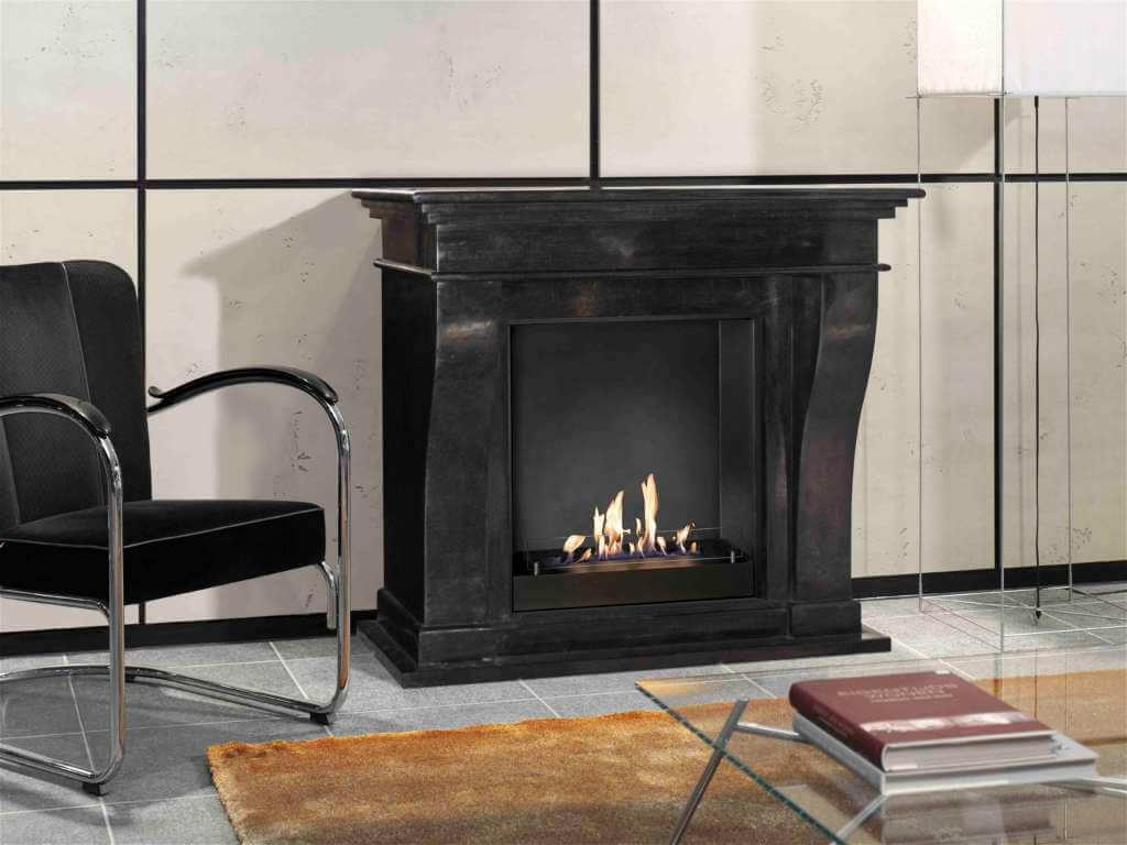bio flame kreta fossilstein schwarz garvens elektrokamine und ethanol kamine. Black Bedroom Furniture Sets. Home Design Ideas